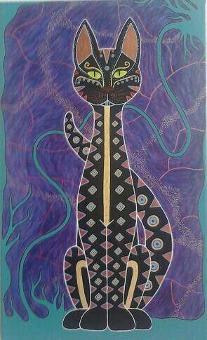 bohemian cat (acrylic)