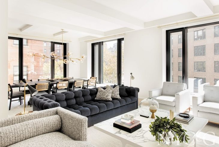 The 2018 New York Ida Winners Interior Design Cottages Gardens Modern Living Room Interior Apartment Interior Interior Design New York Modern new york living room