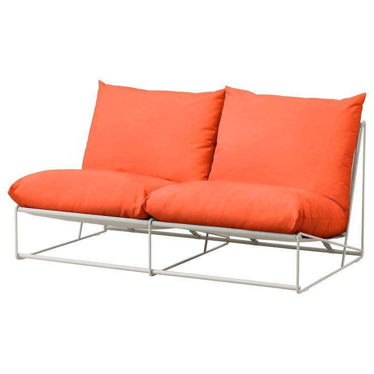 Havsten 2er Sofa Drinnen Draussen Ohne Armlehnen Orange Beige Ikea Deutschland Bankstellen Buiten Sofa Love Seat