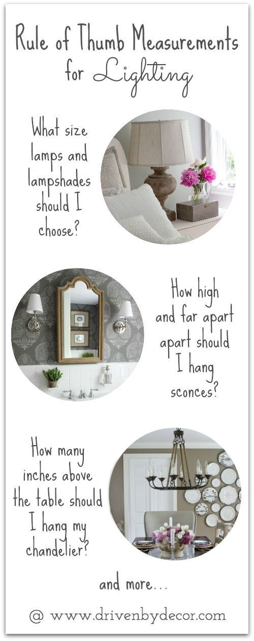 These tips are so helpful for choosing and hanging lighting! Pinning for future reference!