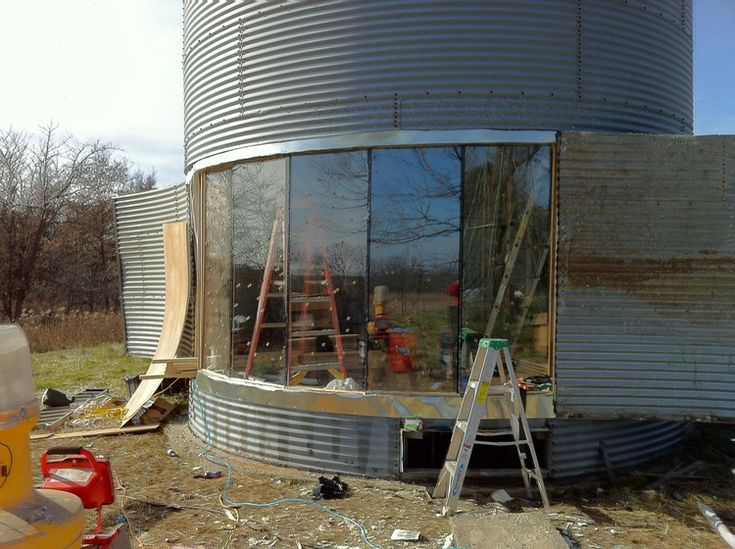 Excellent photo essay documenting grain bin renovation and old barn upcycling