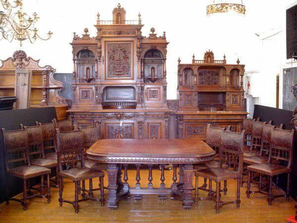 ~ 1840's Victorian Antique Dining Room Set ~ ebay.com