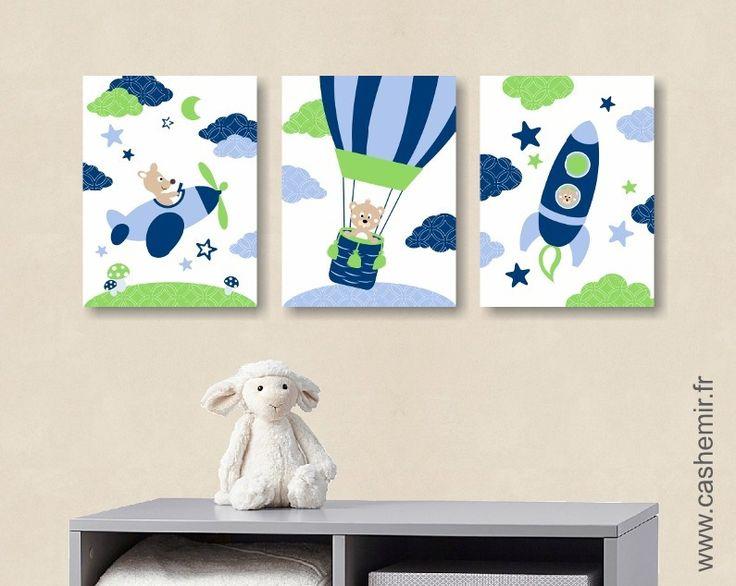 Les 217 meilleures images propos de deco chambre baby - Affiche chambre garcon ...