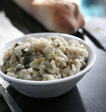 Risotto aux champignons et poireaux - les meilleures recettes de cuisine d'Ôdélices
