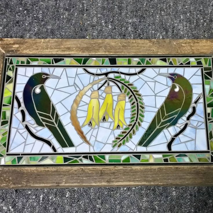 Latest outdoor Tui and Kowhai glassart outdoor