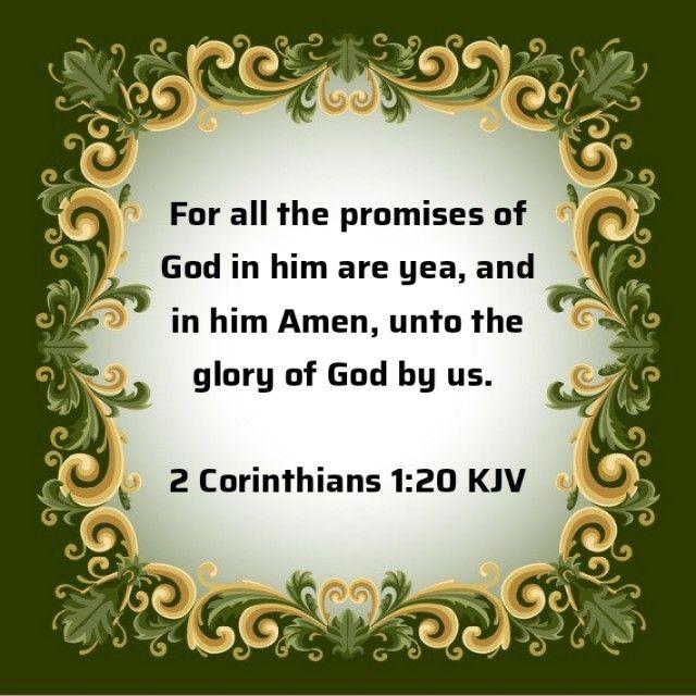 2 Corinthians 1:20 | Bible words, Kjv, Bible knowledge