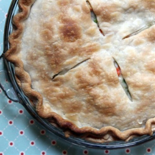 Easy Chicken Pot Pie (thought this would be good for turkey left overs too)