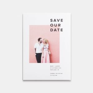 [The 5x7 It's A Date Photo Card is printed on premium quality 100% recycled paper. Customize the design with your favorite photo and personalize it with all the details of your wedding day.]