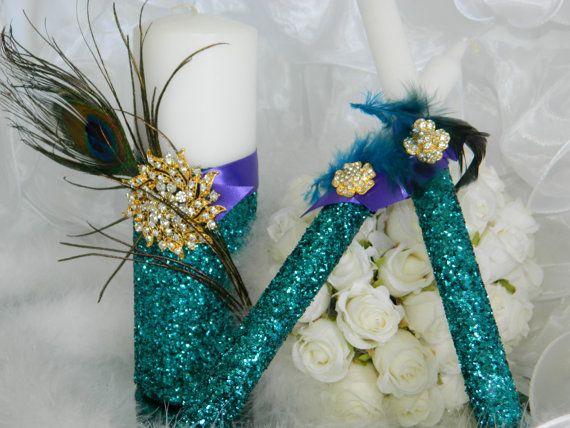 Peacock Wedding Decor Peacock Wedding Centerpiece by KPGDesigns, $49.99