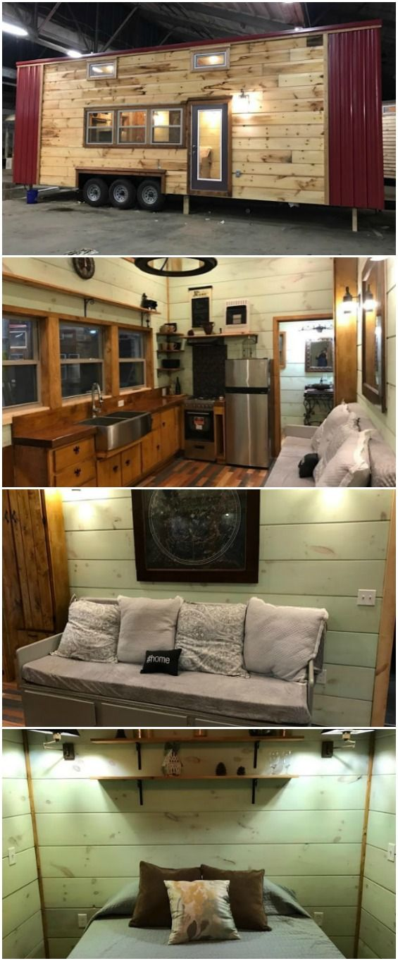love this one...Modern and Rustic 320sf Tiny House by Incredible Tiny Homes for Sale - Incredible Tiny Homes is the name of a company out of Tennessee that builds (you guessed it) truly incredible tiny homes full of custom features. One of their newest models is currently for sale for $80,000 and comes complete with high-end finishes and quality workmanship in its 320 square foot interior.