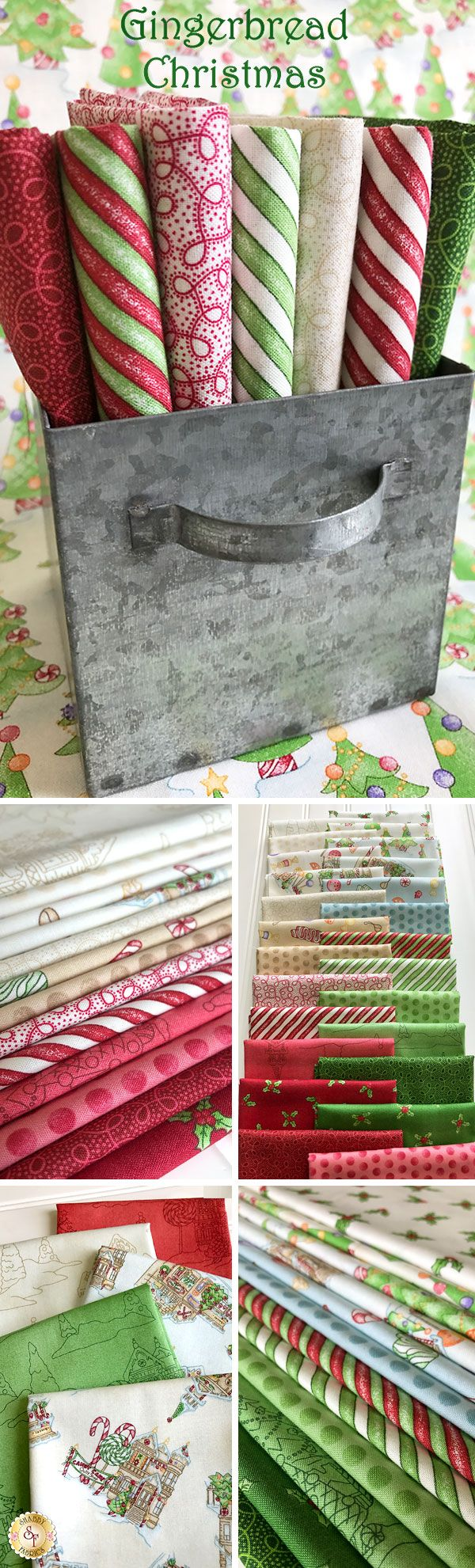 Gingerbread Christmas by Meg Hawkey for Maywood Studio is a holiday fabric collection available at Shabby Fabrics!