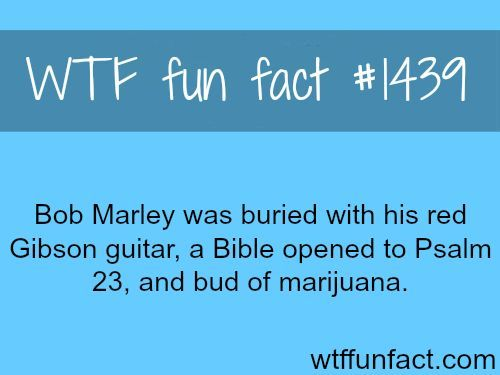 Bob Marley's Gibson guitar, some say he was buried with a soccer, and his ring from the princes of Ethiopia WTF FUN FACTS HOME / See MORE…