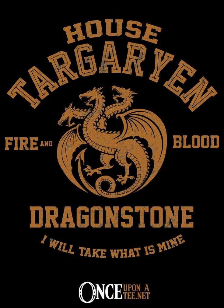 FIRE AND BLOOD T-Shirt $12 Game of Thrones tee at Once Upon a Tee!