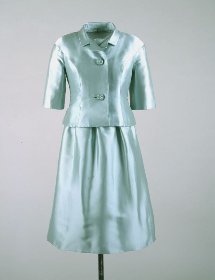 Ice Blue Dress with Jacket - John F. Kennedy Presidential Library & Museum