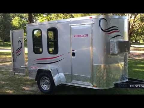 Used Travel Trailers For Sale By Owner >> YouTube Weeroll.com tiny $4k trailer. It has a lot of ...