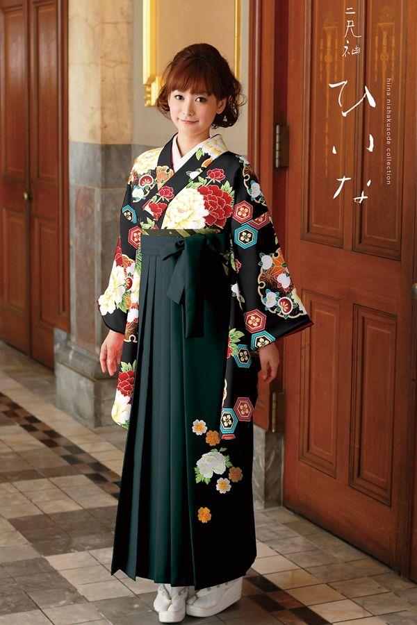 古典柄袴 黒色 古典系袴 Style 卒業式の袴Styleは女の子の特別な1日!友達と差をつける!!