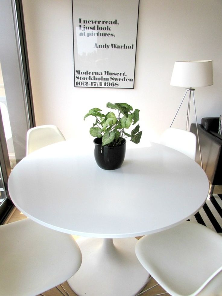 dining space in a small room