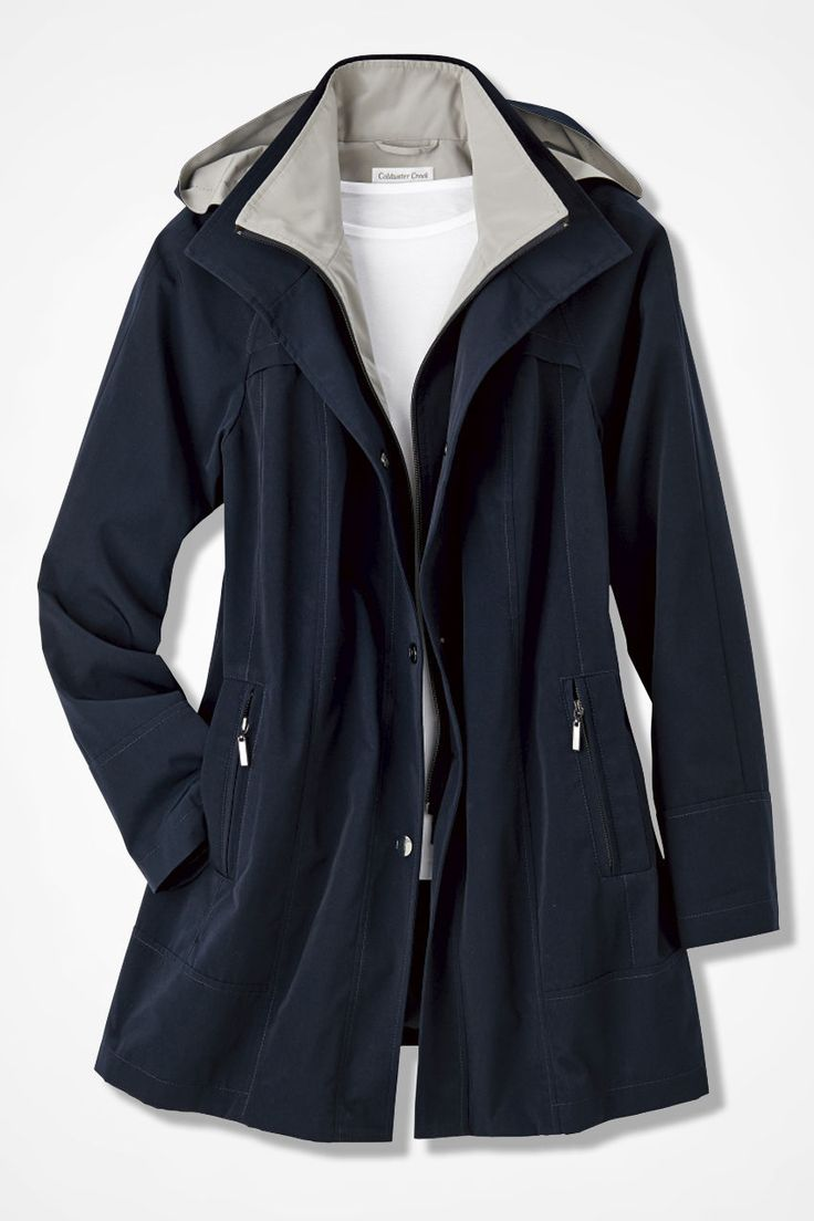 All-Season Jacket - Coldwater Creek Navy or Driftwood; L