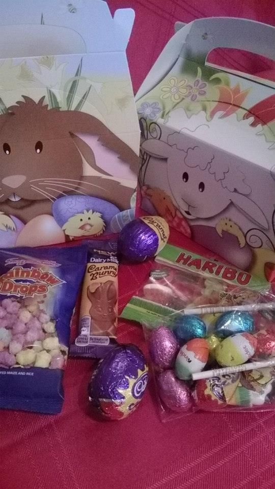 #Sleepover Boxes full of treats, great alternative to Easter Eggs #Easter #gifts for all from as little as £1!!   #Baskets #Bunnies #chocolate #sweets #giftbox #buckets #sweetngroovystuff www.facebook.com/sweetngroovystuff