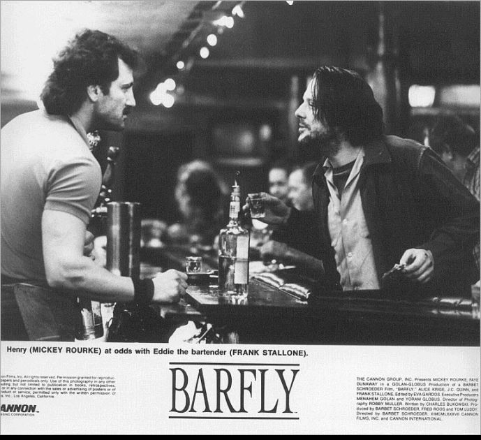 Mickey Rourke & Frank Stallone in Barfly