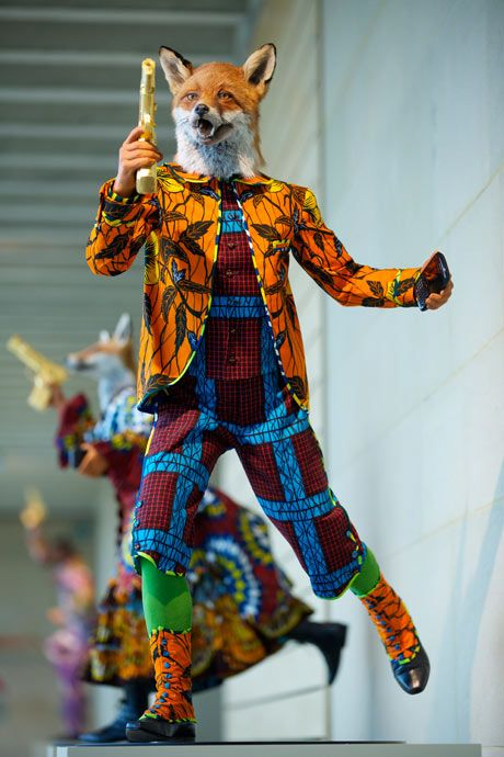 Fur game … Yinka Shonibare's Revolution Kid (Fox).