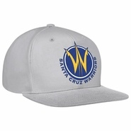 Santa Cruz Warriors adidas Ice Grey Flat Brim Snapback Cap