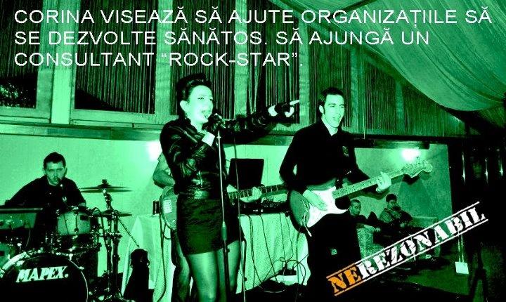"""Corina visează să ajute organizațiile să se dezvolte sănătos. Să ajungă un consultant """"ROCK-Star""""."""