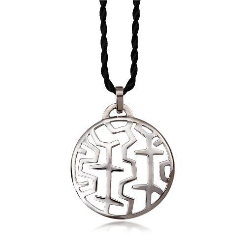 Entasis pendant in 18ΚΤ white gold