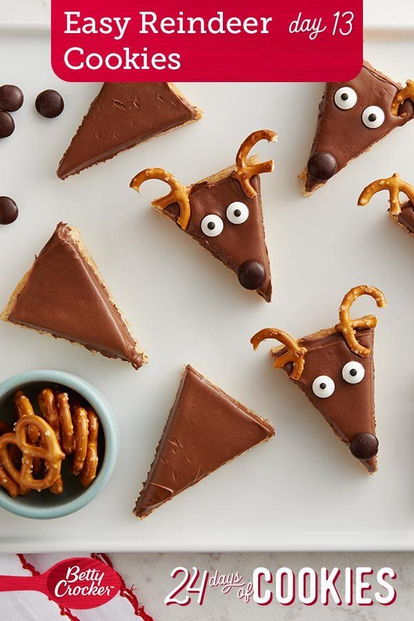 Easy Reindeer Cookie Bars
