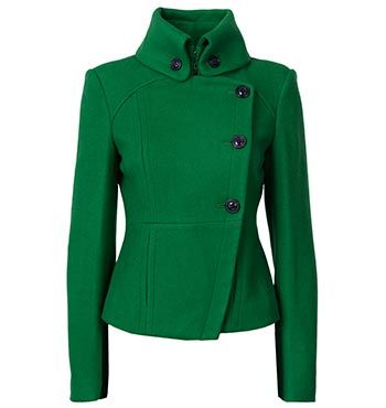 ITALIAN WOOL MELTON ASSYMETRIC BUTTON JACKET now only$329.00 AUD