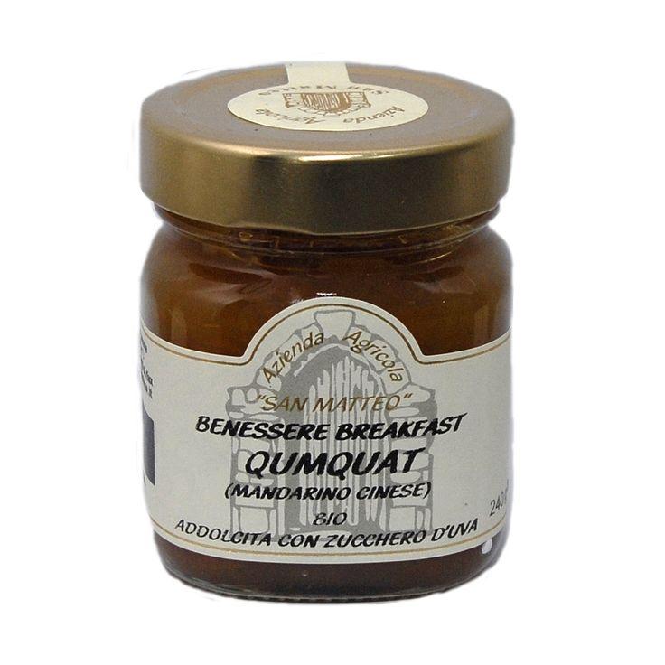 #Marmellata #Qumquat (#MandarinoCinese)  Confezione da 240 grammi Prodotto Biologico  Ingredienti: Qumquat Bio (70%) Mosto d'uva concentrato Bio (60%) Succo di limone Bio (2,5%) Gelificante: pectina di frutta