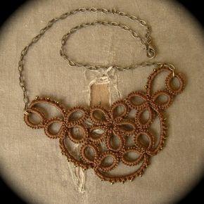 Tatted Lace Collar tachonado flor edición color por TotusMel