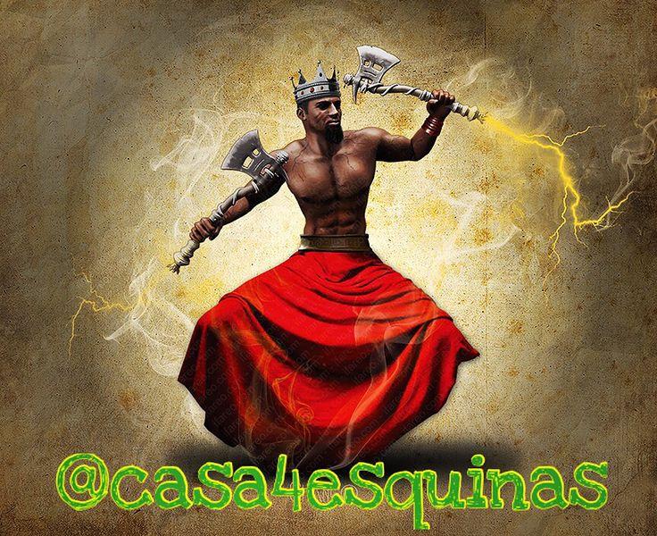 Shangó Parte 6:  Shangó es un Orisha muy violento aunque respeta mucho a los muertos por eso respeta a Oya ya que esta siempre está acompañada por un ejercito de Egguns (muertos). Cuando monta en uno de sus hijos los puede someter a sacrificios tremendos como tocar el fuego, etc.    Shangó es un Orisha extremadamente fogoso y de voluntad fuerte, que ama todos los placeres del mundo: el baile, los tambores, las mujeres, los cantos y la comida. #consultas #iniciaciones #shango #orishas #ashe