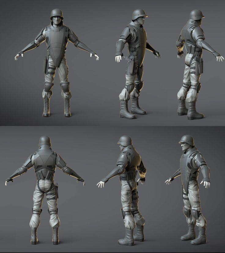 ArtStation - Soldier Test, Matt Thorup