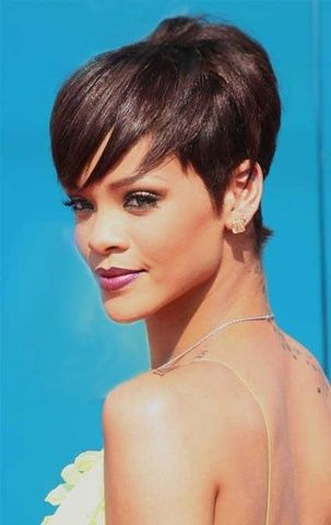 Rihanna Sexy Beautiful Unique  Hairstyle Short Straight Wig, $58.99 | Wigsshopping.com