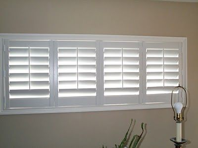 bi-fold plantation shutters for the basement windows