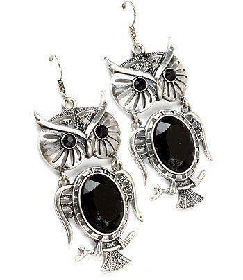 Beaded Owl Earring