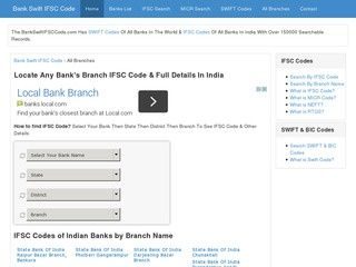 IFSC Codes of all bank branched in India listed here http://www.bankswiftifsccode.com/category/india/all-banks/page/