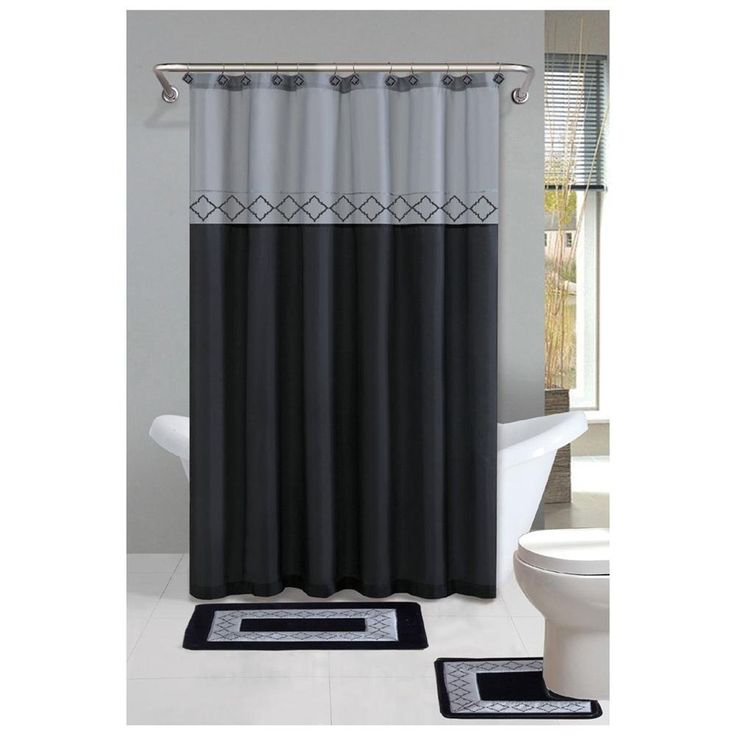 Orange And Grey Chevron Shower Curtain