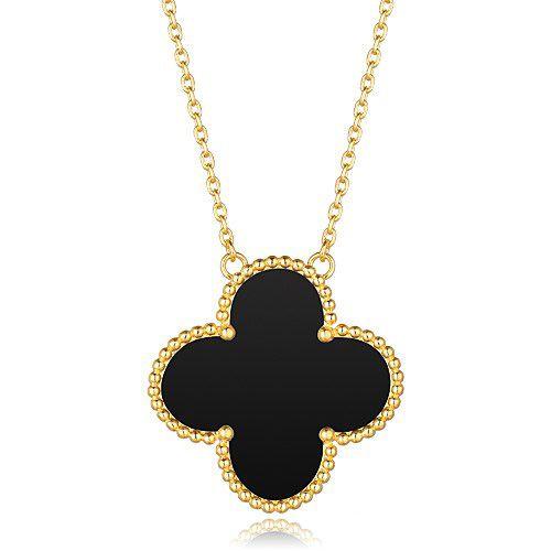 Replica Van cleef & arpels Vintage Alhambra pendant onyx, 1 motifs