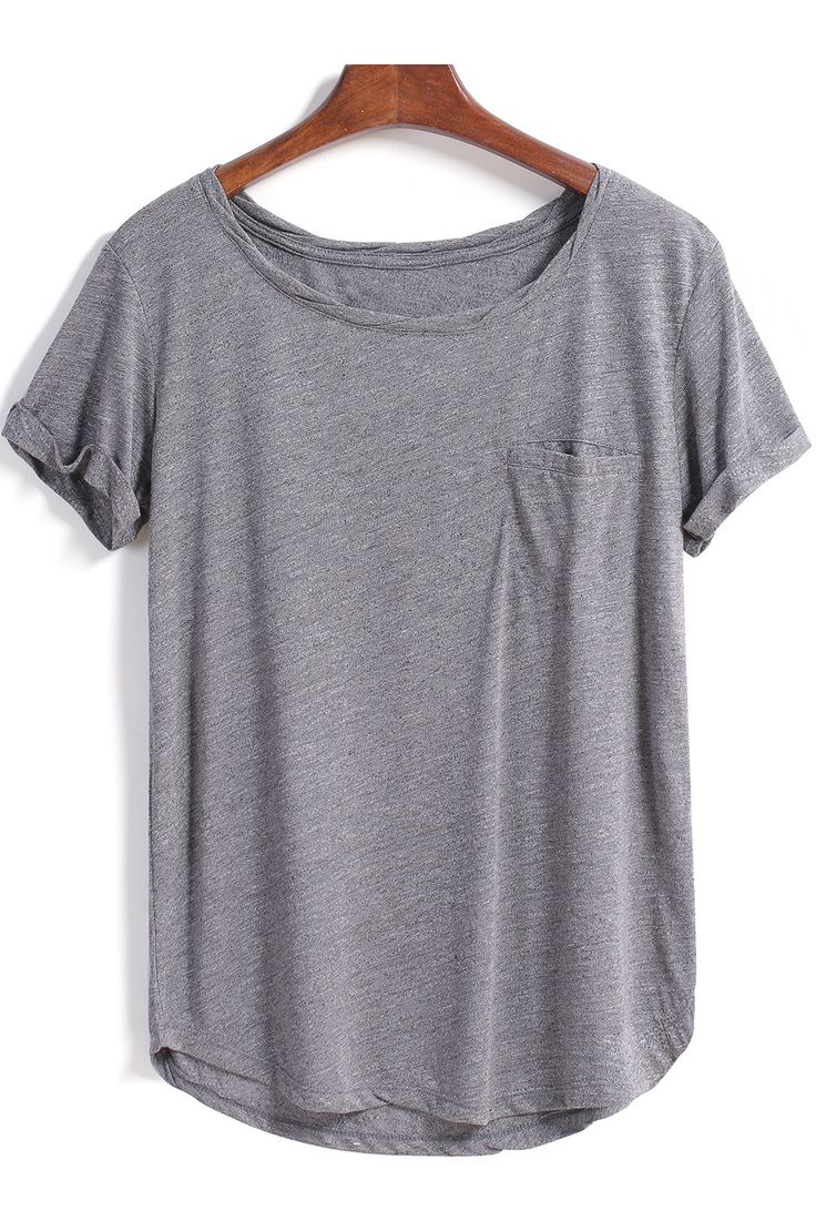 Shop Grey Short Sleeve Pocket Loose Blouse online. SheIn offers Grey Short Sleeve Pocket Loose Blouse & more to fit your fashionable needs.