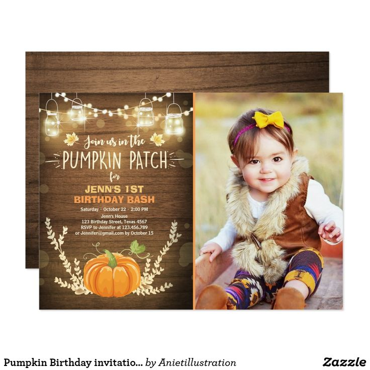 wording ideas forst birthday party invitation%0A Pumpkin Birthday invitation patch Autumn fall