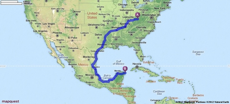 Driving Directions from 1050 Main St, Milton, West Virginia 25541 to Cancun, Mexico | MapQuest: Cancun Mexico, Street Maps, Mapquest Maps