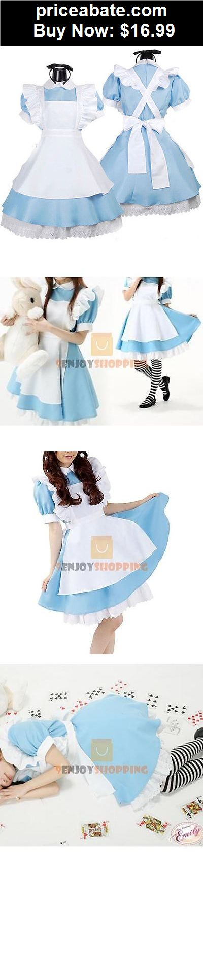 Women-Costumes: Halloween Maid Costume Alice In Wonderland Sexy Maids Outfit Fancy Dress Cosplay - BUY IT NOW ONLY $16.99