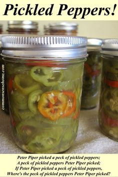 Peppers on Pinterest | Banana Pepper Rings, Canning Hot Peppers and ...