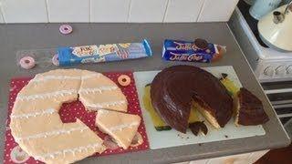 GIANT JAFFA CAKE & GIANT PARTY RING - YouTube