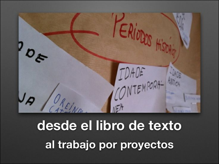 Del libro de texto al trabajo por proyectos