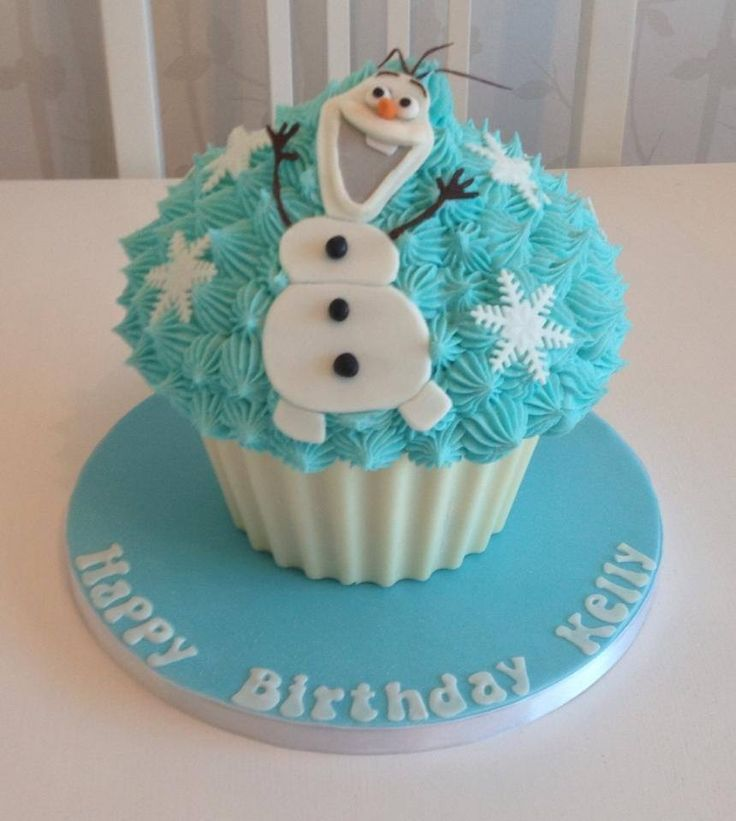 Big Cupcake Images : Olaf giant cupcake Frozen Party Ideas Pinterest Olaf ...