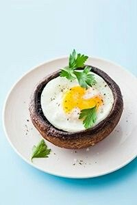 portobello mushroom with egg 100 calories