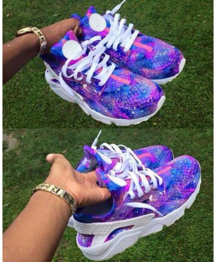 Nike Air Huarache Galaxy Royal Blue Purple Trainer Style beautiful and colorful, very young people like.